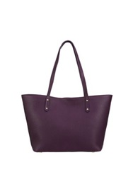 Gigi New York Mini Taylor Pebbled Leather Tote Wine Pine