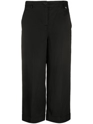 Twin Set Cropped Leg Chinos Black
