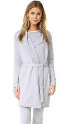 Love Grace Fuzzy Fleece Robe Heather Grey