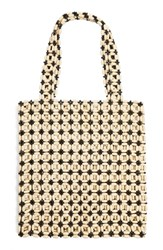 Topshop Aruba Beaded Tote Black Black Multi
