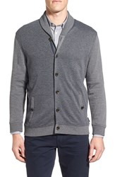 Ted Baker Men's London 'Kos' Shawl Collar Cardigan Charcoal