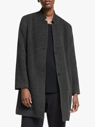 Eileen Fisher Notch Collar Coat Dark Pearl