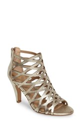 Isola Women's Debra Cage Sandal Satin Gold Leather