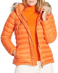 Lauren Ralph Lauren Plus Faux Fur Trimmed Down Jacket