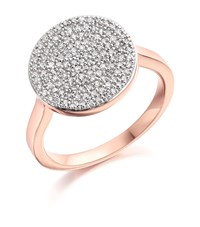Monica Vinader Ava Diamond Disc Ring Female Pink