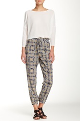 Lily White Printed Soft Pant Black