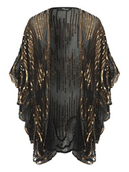 Jane Norman Embellished Kaftan Black