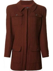 Chanel Vintage Jacket And Skirt Suit Red