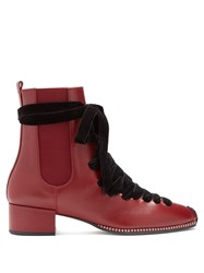 Altuzarra Leather Chelsea Boot Burgundy