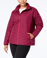 Columbia Plus Size Oyanta Trail Insulated Active Jacket Dark Raspberry