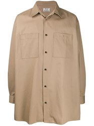 Acne Studios Oversized Military Shirt Neutrals