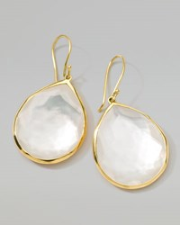 Ippolita 18K Gold Rock Candy Large Mother Of Pearl Teardrop Earrings White