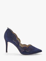 Boden Esme Suede Court Shoes Navy
