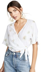 Rails Athena Blouse White Vintage Palms