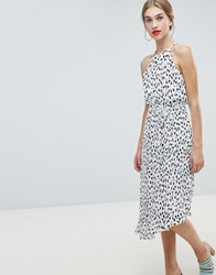 Warehouse Polka Dot Dress Multi