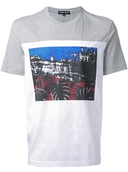 Markus Lupfer Contrast Graphic T Shirt Grey