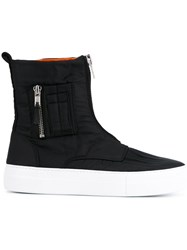 Joshua Sanders Zip Up Hi Top Sneakers Black