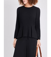 Cefinn Long Sleeve Peplum Top Black