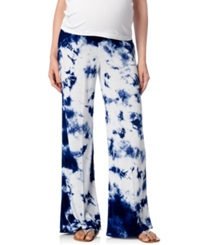 A Pea In The Pod Maternity Tie Dyed Wide Leg Soft Pants
