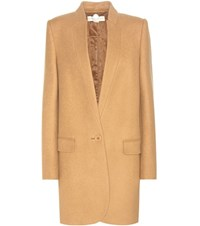 Stella Mccartney Wool Blend Coat Brown