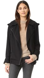 Acne Studios Lilja Moto Trench Jacket Black