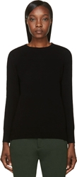 Rag And Bone Black Wool Crewneck Natalie Sweater