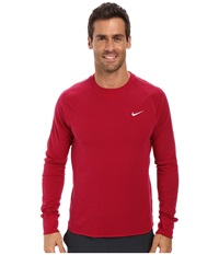 Nike Dri Fit Sprint Crew Dark Fireberry Dark Fireberry Reflective Silver Men's Long Sleeve Pullover Red