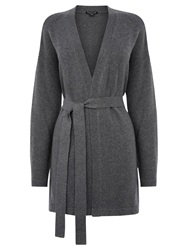 Warehouse Belted Cardigan Light Grey