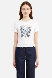 Anna Sui For Opening Ceremony Baby Doll Tee White Multi