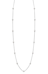 Mikimoto Akoya Cultured Pearl Station Necklace White Gold