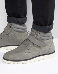 Brave Soul Lace Up Boots With Sherpa Lining Grey Grey