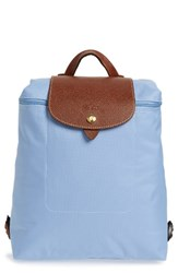 Longchamp 'Le Pliage' Backpack Blue Blue Mist