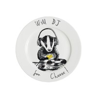 Jimbobart 'Will Dj For Cheese' Side Plate