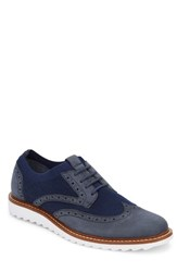 G.H. Bass 'S And Co. Buck 2.0 Wingtip Navy Knit Nubuck
