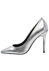 Warehouse Classic Heels Metallic Silver