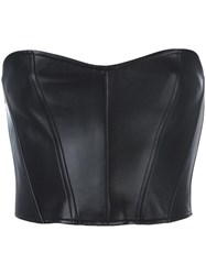 Faith Connexion Strapless Leather Top Black