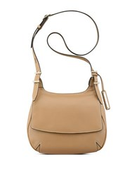 Nine West Beleka Textured Leather Crossbody Bag Dark Carmel