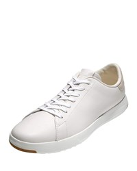 Cole Haan Grandpro Leather Tennis Sneakers White