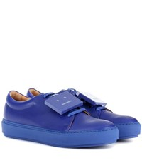 Acne Studios Adriana Turnup Leather Sneakers Blue