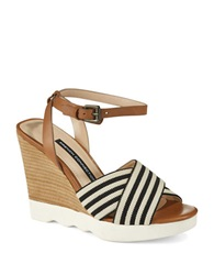 French Connection Jane Wedges Natural Black