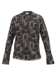 Greg Lauren Classic Studio Paisley Print Cotton Shirt Black