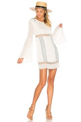 Ale By Alessandra Luana Long Sleeve Dress White
