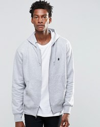 French Connection Hoodie Zip Through Blue