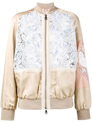 N 21 No21 Macrame Lace Bomber Jacket Nude And Neutrals