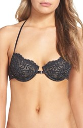Free People Women's What She Said Underwire Bra Black Combo