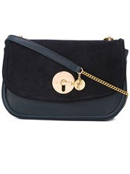 See By Chloe 'Lois' Cross Body Bag Women Cotton Leather Suede One Size Blue