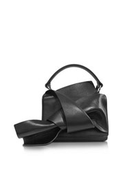 N 21 Black Leather Micro Crossbody Bag W Iconic Bow On Front