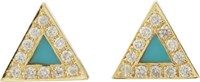 Jennifer Meyer Triangle Stud Earrings Colorless