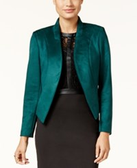 Thalia Sodi Stand Collar Faux Suede Blazer Only At Macy's Dark Forest