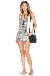 Minkpink Eco Warrior Romper Black And White